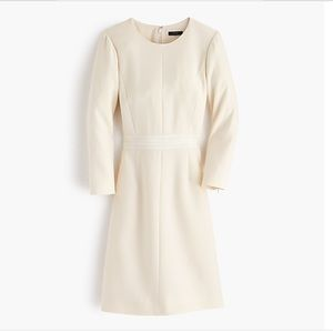 J. Crew Rare Double faced Wool Crepe Dress 0 Tall